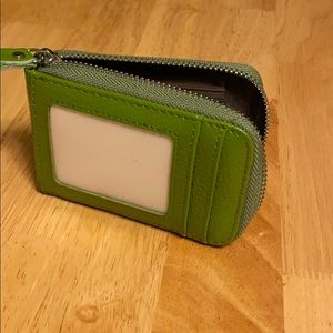 Cute green card holder wallet